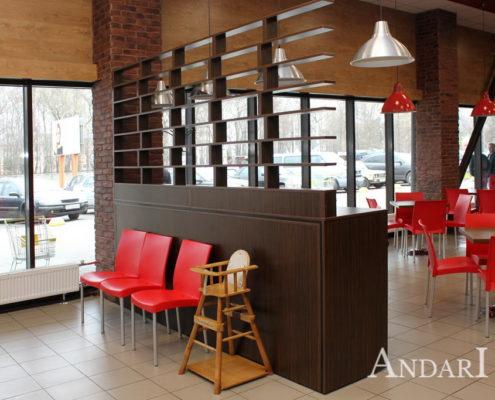 Кассовая зона для кафе андари