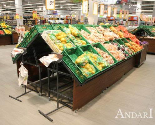 Торговое оборудование - овощной развал