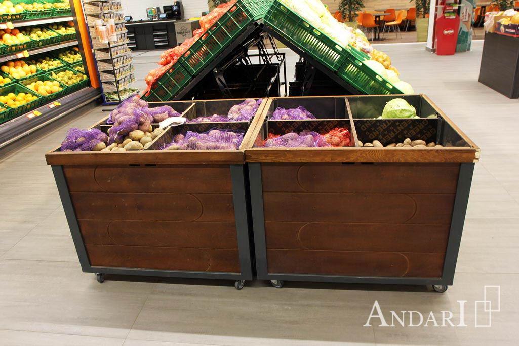 Торговое оборудование - накопитель для овощей