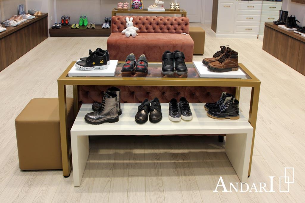 Витрина в магазине детской обуви