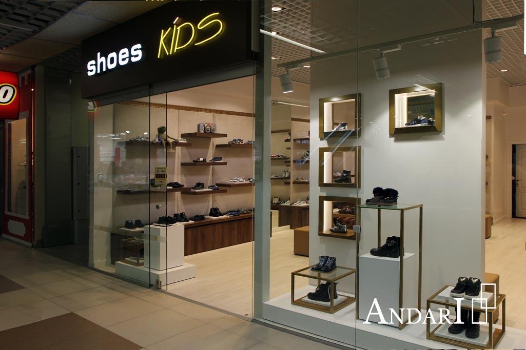 Мебель для магазина детской обуви